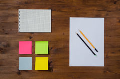 Set of office supplies Stock Images