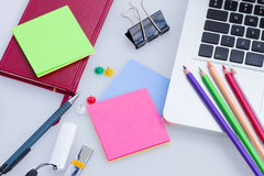 Set of office supply Royalty Free Stock Images