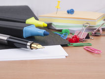 Set of the  office tools Stock Images