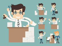 Set of office worker Stock Photos