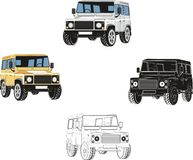 Set of Offroad autos Stock Images