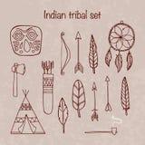Set ofindian tribal elements Stock Image