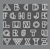 Set ofVector abstract alphabet set Royalty Free Stock Photos