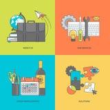 Set ogólnoludzkie kolor linii ikony ilustracji