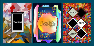 Set ogólnoludzkiego plakatowego ulotka sztandaru projekta kolorowy tło royalty ilustracja