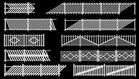 Set ogrodzenie od szermierczego drewna. Ilustracji