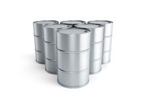 Set of oil barrels Royalty Free Stock Photo