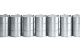 Set of oil barrels Royalty Free Stock Photography