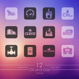 Set of oil and gas icons Royalty Free Stock Image