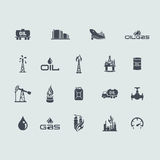 Set of oil and gas icons stock illustration
