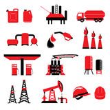Set of Oil and Gas power energy vectors and icons Royalty Free Stock Photos