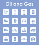 Set of oil and gas simple icons Stock Images