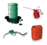 Set of oil items Royalty Free Stock Photography