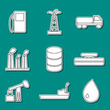 Set of oil stickers Stock Photos