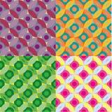 Set okręgi i kwiatów wzory Obrazy Stock