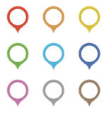 Set okregów pointery w kolorach tęcza Zdjęcie Stock