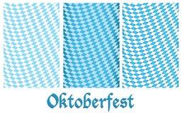 Set Oktoberfest Auslegunghintergrund Stockfoto