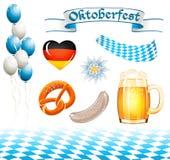 Set of Oktoberfest design elements vector illustration