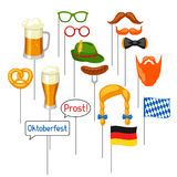 Set of Oktoberfest photo booth props. Accessories for festival and party Stock Photography