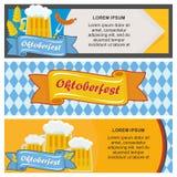 Set of oktoberfest stickers stock illustration