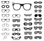 Set okulary przeciwsłoneczni i szkła. Wektorowa ilustracja ilustracji