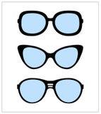 Set okulary przeciwsłoneczni wektorowy ilustracyjny tło royalty ilustracja