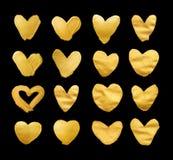 Set olśniewający serca dla ciebie zadziwiający projekta projekt Akwareli tekstury muśnięcia uderzenia odizolowywający na bielu Obraz Stock