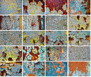 Set old abstract backgrounds from the cracked pain Stock Photography