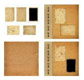 Set of old albums with paper vintage frames Royalty Free Stock Photos