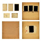 Set of old albums with paper vintage frames Royalty Free Stock Photography