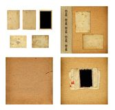 Set of old albums with paper vintage frames. For design Royalty Free Stock Photography