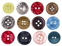 Set of old antique buttons for scrapbooking Stock Photography