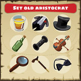 Set old aristocrat: nine things of a great men Royalty Free Stock Photo