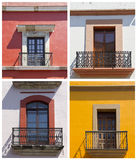 Set of old balconies in Mexico Royalty Free Stock Photography