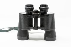 A set of old binoculars stock images