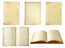 Set of old book isolated on white Stock Images