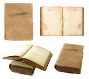 Set of Old book isolated on white Stock Photography