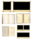 Set of old books and photos Stock Photography