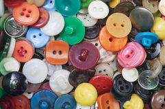 Set of old  buttons Stock Photo