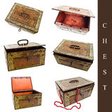Set of old chests Royalty Free Stock Image