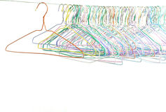 Set of old clothes hanger Royalty Free Stock Photos