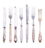 Old cutlery. Set old cutlery, isolated on white Stock Images