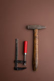 Set of old dirty tools Stock Photography