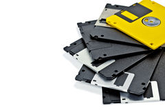 Set of old diskette royalty free stock photos