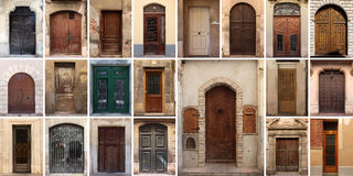 Set of 21 old doors and gates Stock Photography