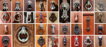 Set of 31 old doors Royalty Free Stock Photos