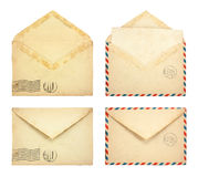 Set of Old envelopes Royalty Free Stock Photos