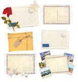 Set of old envelopes Stock Photography