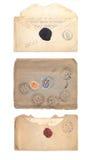 Set of old envelopes Royalty Free Stock Image