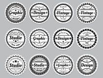 Set old-fashioned icons Stock Photo